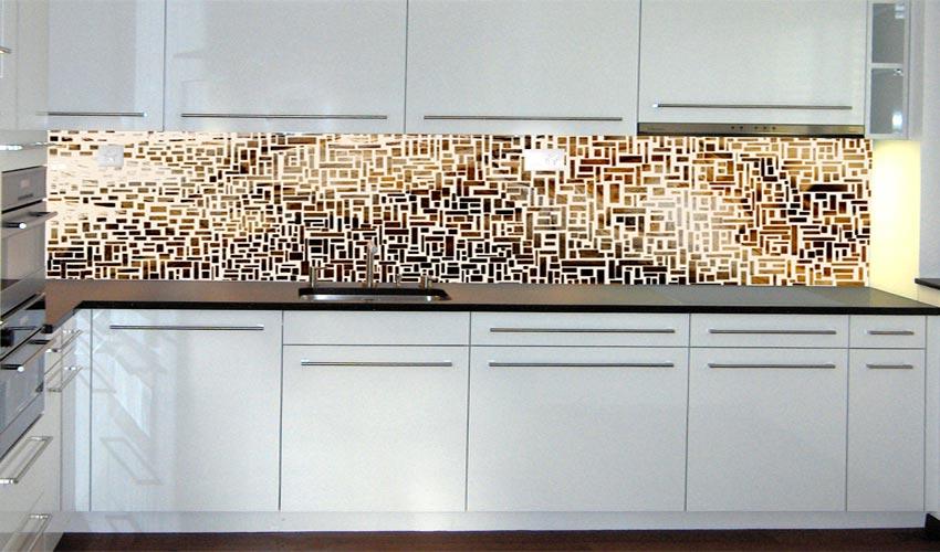 Kuche ruckwand mosaik - Fliesenspiegel aus holz ...