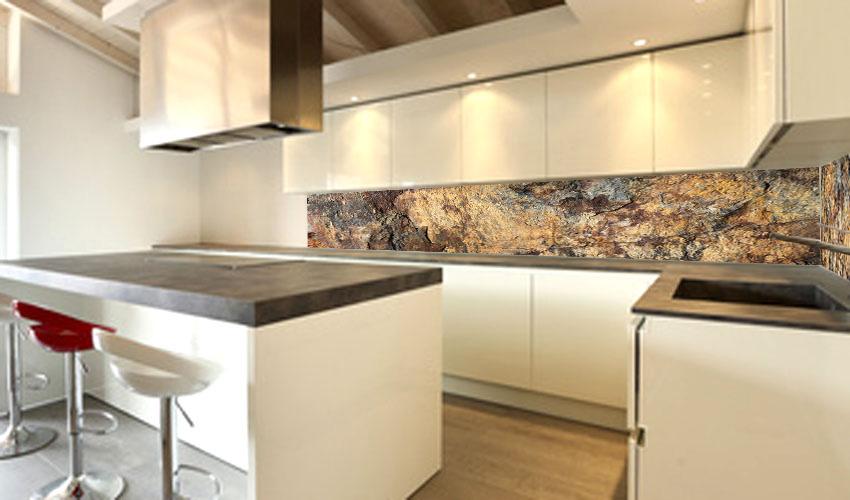 stein rückwand küche ? küchengestaltung kleine küche - Rückwand Küche Holz