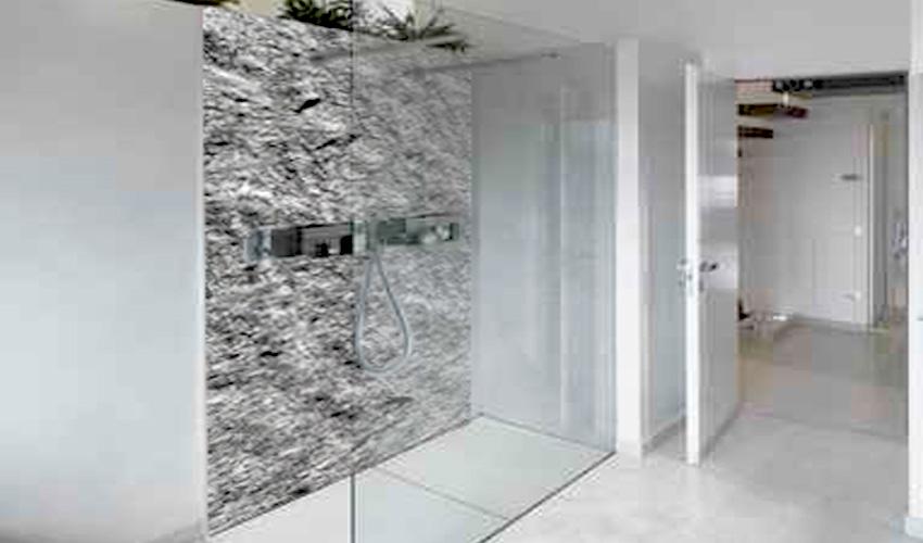 Hervorragend Steinwand Bad Dusche Wohndesign